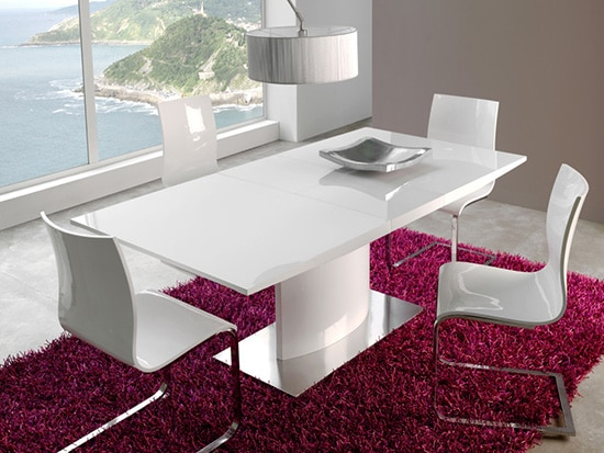 Biely roztahovaci jedalensky stol