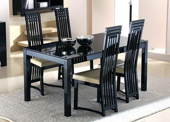 Cierny skleneny jedalensky stol