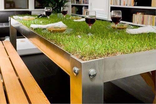 Travnaty jedalensky stol