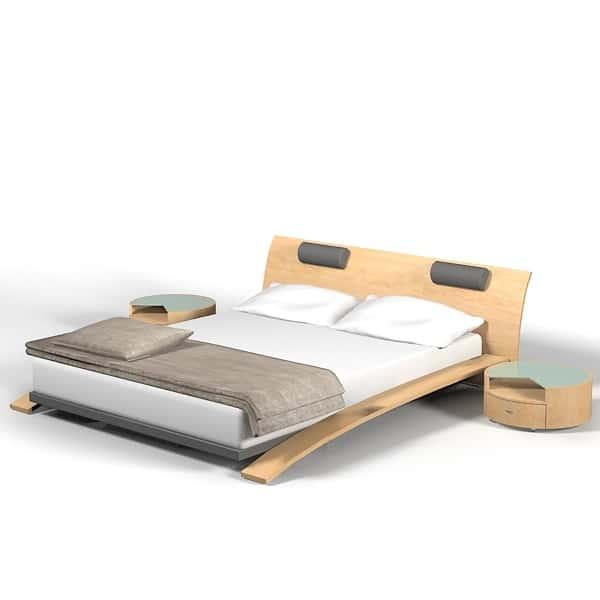 Drevena manzelska postel