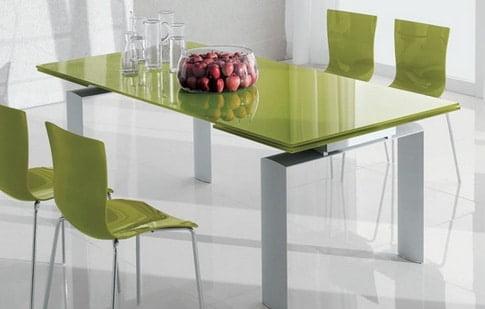 Zeleny jedalensky stol - moderny