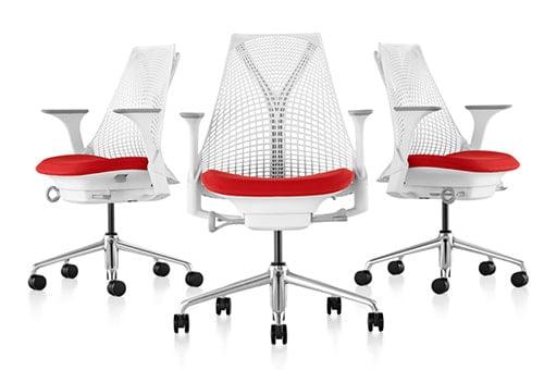 Biele kancelárke kreslo - sieťové operadlo