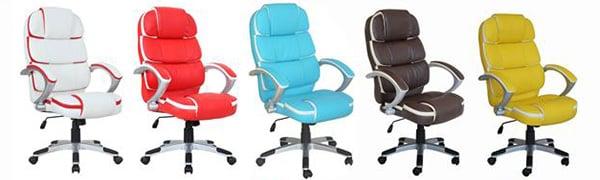 Farebné kožené kancelárske kreslá