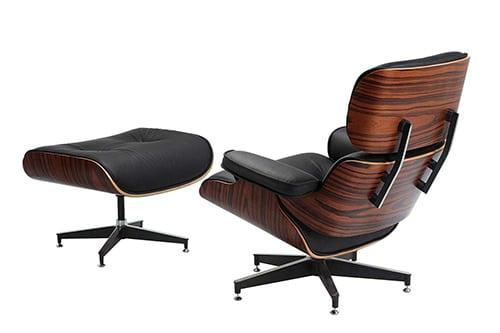 Koženo-drevené kancelárke kreslo