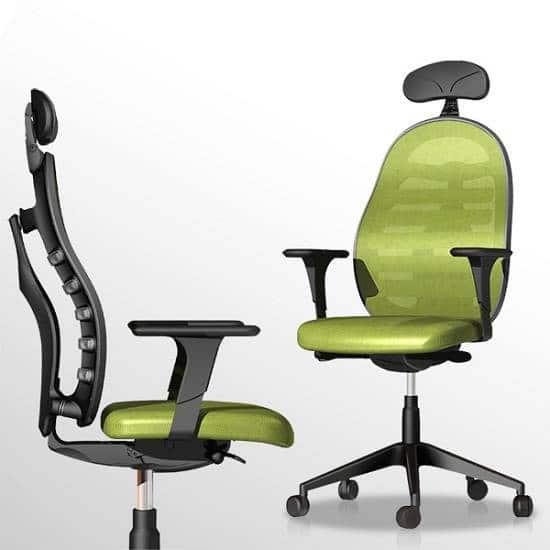 Zelené kancelárske kreslo