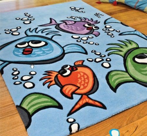 Detsky koberec - ryby