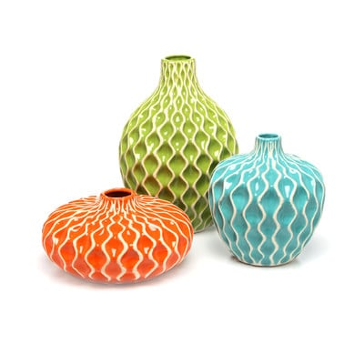 Farebne keramicke vazy