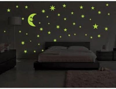 Svietiaca tapeta - mesiac a hviezdy ba5d8093878
