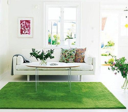 Moderny kusovy koberec - trava