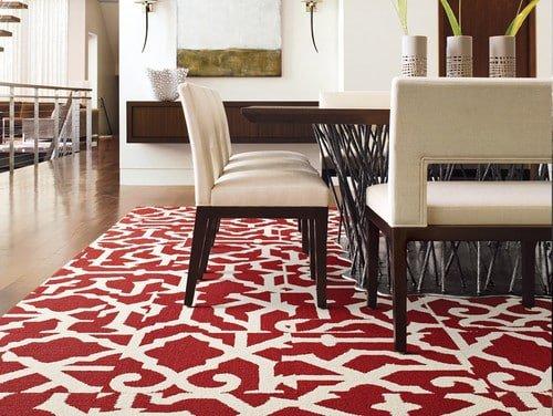 Moderny kusovy kobere - cerveny