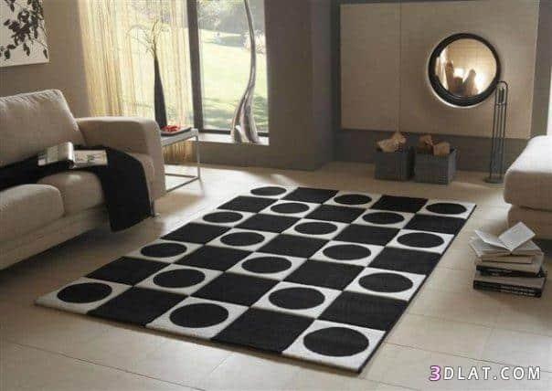 Moderny kusovy koberec - kruhy