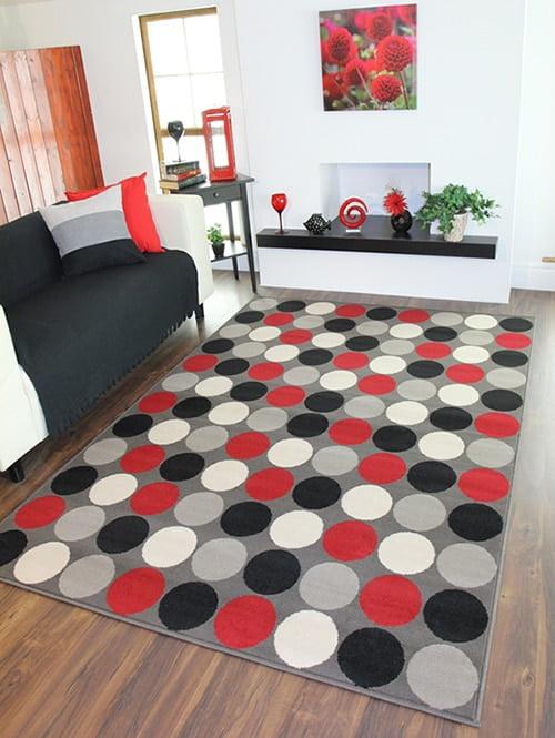 Kusovy koberec - vzor kruhy