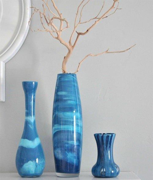 Modra keramicka vaza
