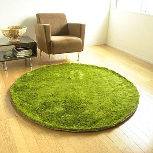 Okruhly kusovy koberec - trava