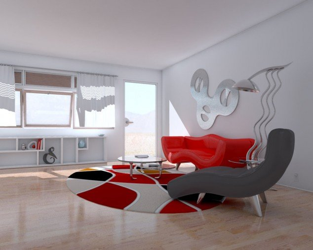 Moderny okruhly koberec
