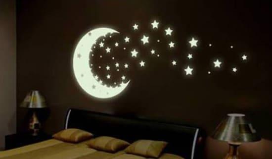 Svietiaca nalepka - mesiac