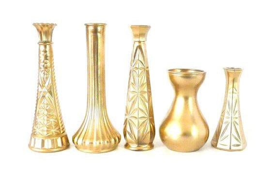 Zlate dekorativne vazy