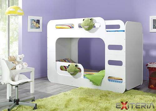 Detská poschodová posteľ - biela