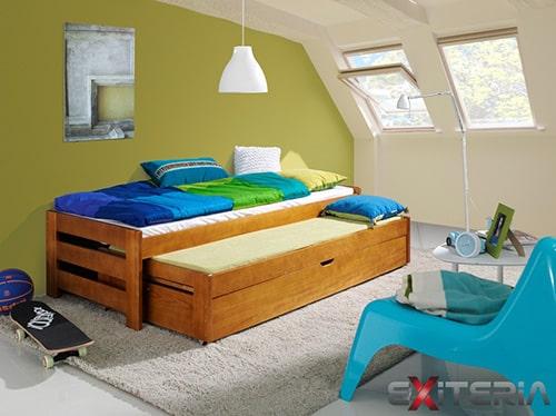 Detská posteľ s prístelkou