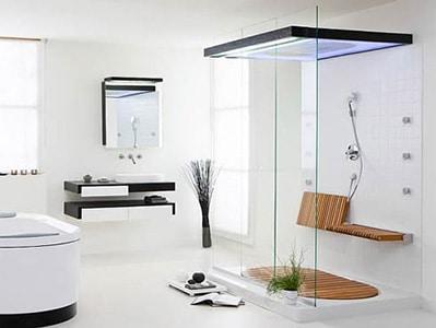 Moderný sprchový kút - priehľadný
