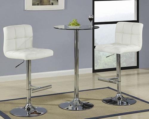 Biele kožené barové stoličky