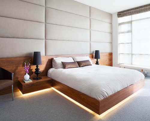 Luxusná posteľ s osvetlením