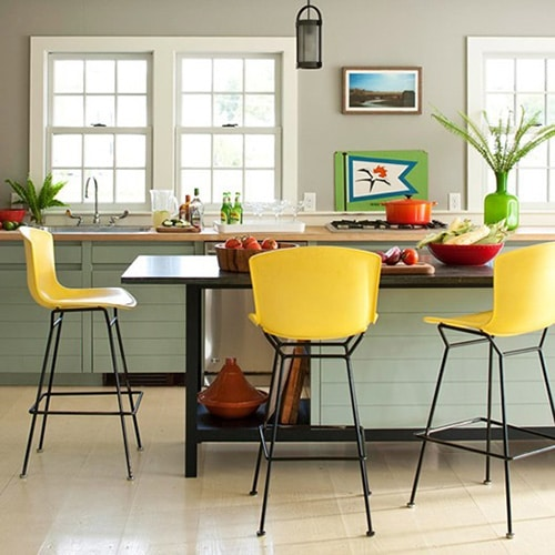 Žlté barové stoličky