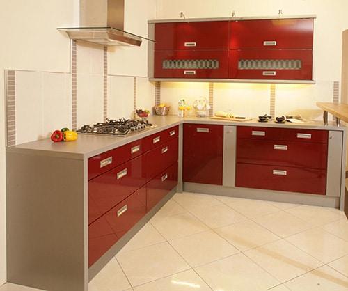 Červená kuchyňa