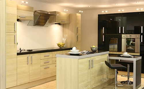 Moderná drevená kuchyňa