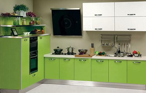 Zelená kuchynská linka