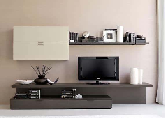 Malá obývacia stena