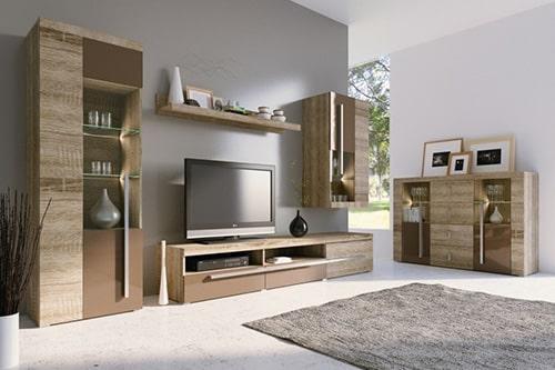 Moderná obývacia stena - dub