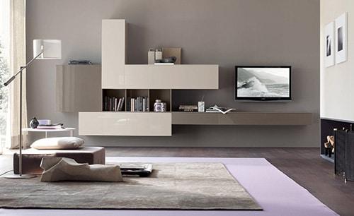 Závesná obývacia stena