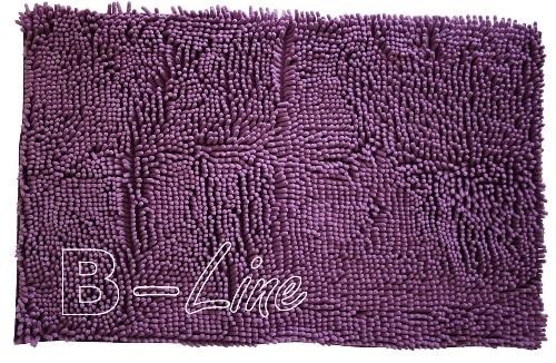 Fialový huňatý koberec