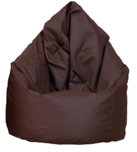 Hnedý kožený sedací vak