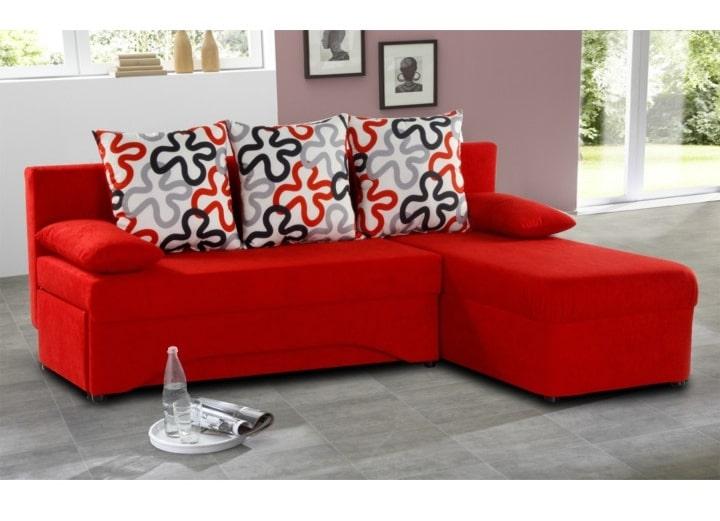 Malá rohová sedačka - červená