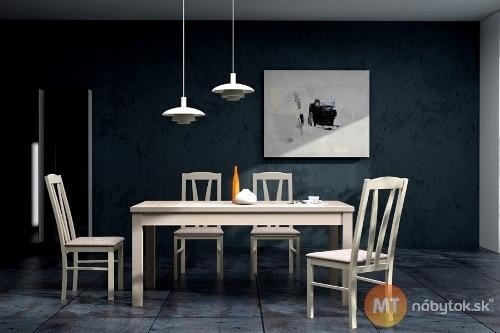 Moderná jedálenská zostava - stôl a stoličky