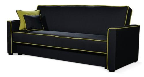 Moderná čierna sedačka