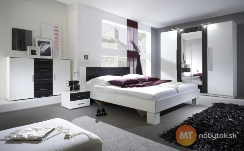 Moderná spálňa - biela a čierna