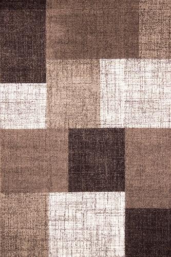 Moderný hnedý koberec