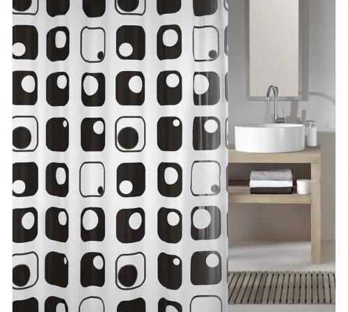 Moderný záves do kúpeľne