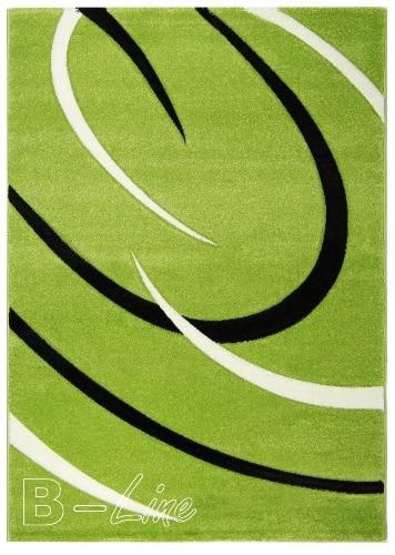 Moderný zelený koberec