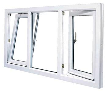 Biele plastové okná