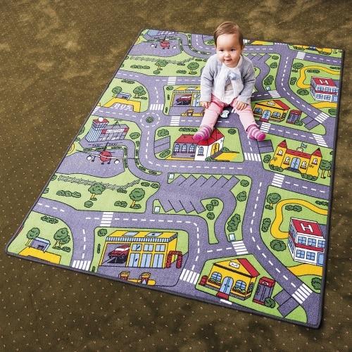 Detský koberec - mesto