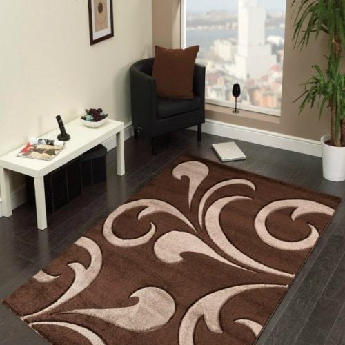 Hnedý kusový koberec
