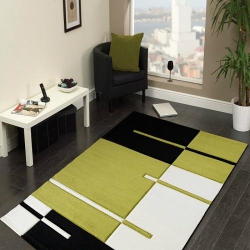 Kusový koberec - zelený