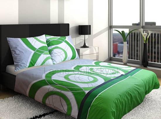 Zelené bavlnené posteľné obliečky