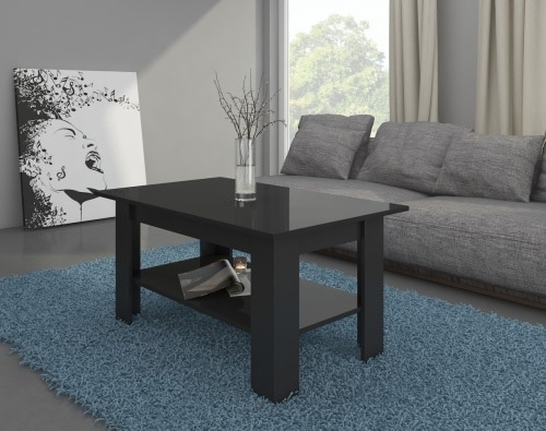 Čierny konferenčný stolík