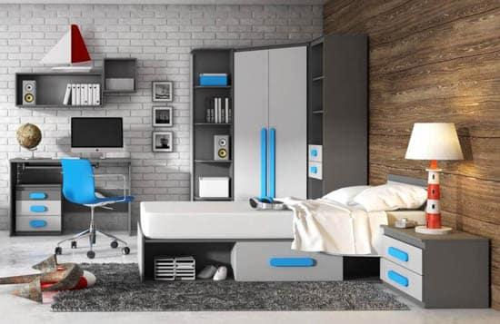 Moderná detská izba pre študenta