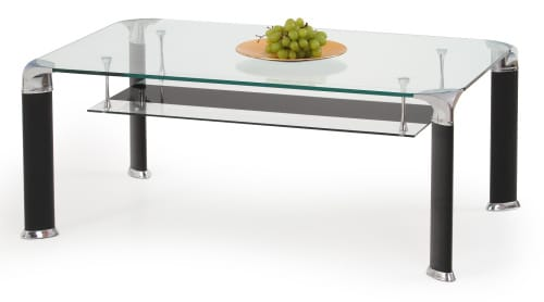 Moderný konferenčný stolík - kov a sklo